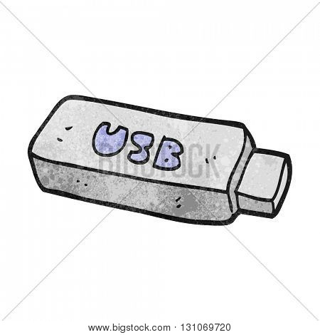 freehand textured cartoon USB stick