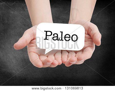 Paleo written in a speechbubble