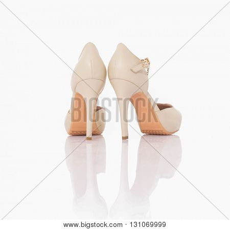 high heel women shoe isolated