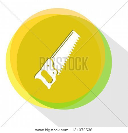 saw. Internet template. Vector icon.