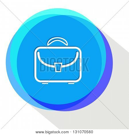 briefcase. Internet template. Vector icon.