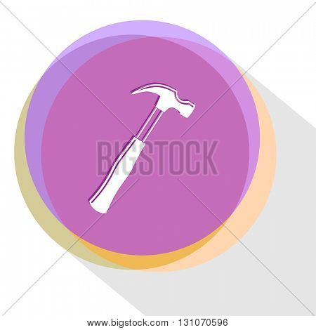 hammer. Internet template. Vector icon.