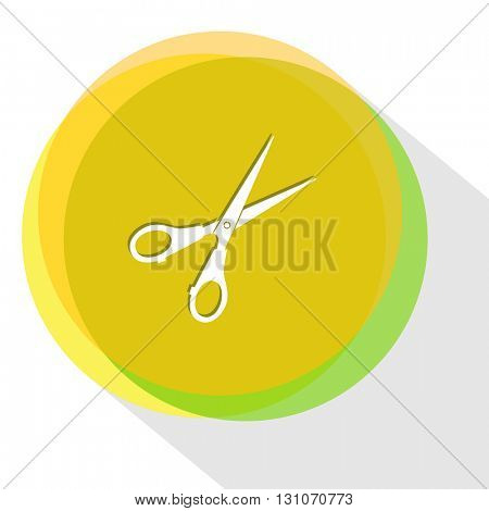 scissors. Internet template. Vector icon.