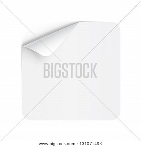 Illustration of White Paper Notepad with Curling Coner for Design