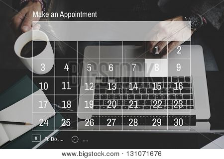 Appointment Agenda Calendar Meeting Plan Concept