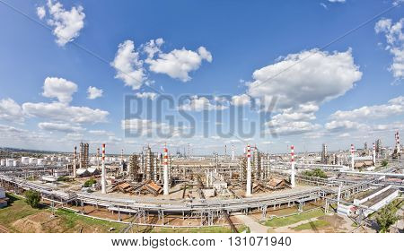 View From Above Of The Territory Occupied By The Refinery