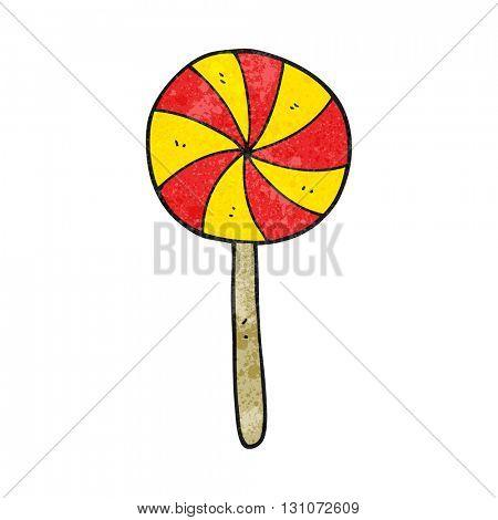 freehand textured cartoon candy lollipop