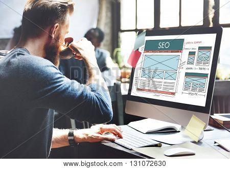 SEO Search Engine Optimization Data Digital Concept