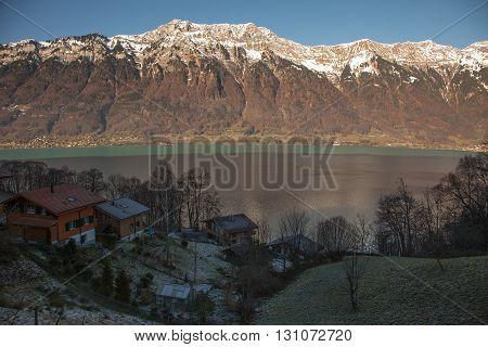Amazing mountain scenery near Interlaken in Switzerland