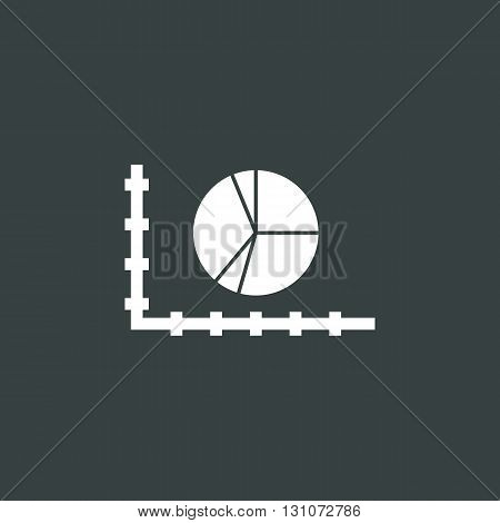 Pie Chart Icon In Vector Format. Premium Quality Pie Chart Symbol. Web Graphic Pie Chart Sign On Dar