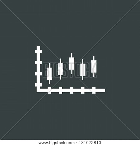 Candles Chart Icon In Vector Format. Premium Quality Candles Chart Symbol. Web Graphic Candles Chart