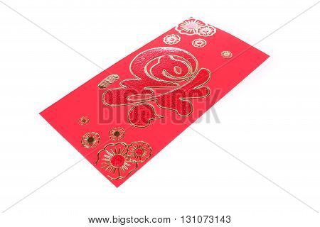 Red Envelope Isolated On White Background For Gift Chinese New Year
