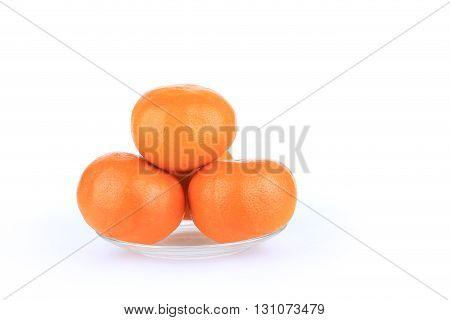 Orange Fruit Of Fortune In Chinese New Year Celebration, Isolated On White Background