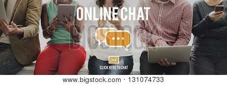 Online Chat Global Communications Connection Concept