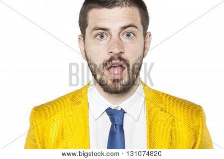 Portrait Of Surprised Businessman