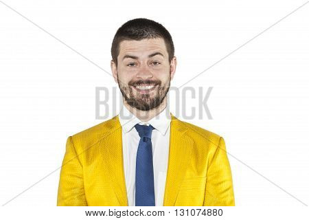 Fake Smile On The Businessman Face