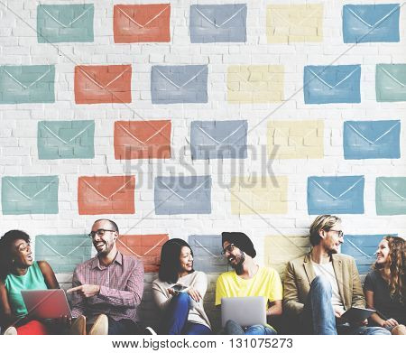 Email Envelope Global Communication Icon Concept