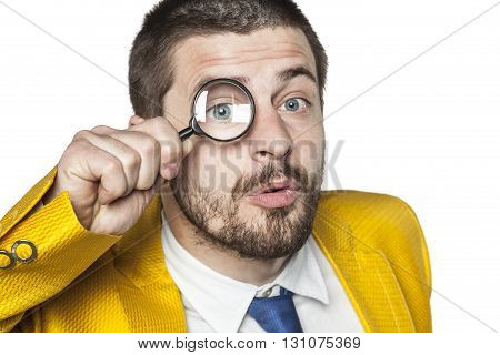 Businessman Checking Thoroughly All Data