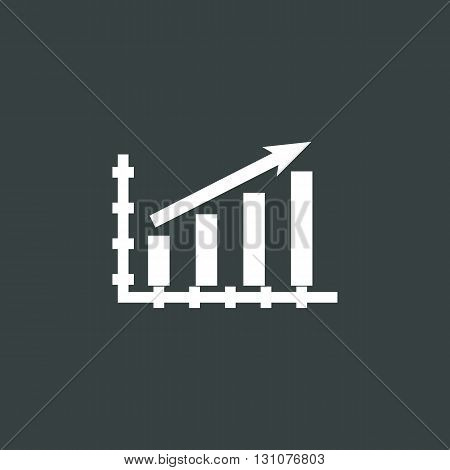 Stats Up Icon In Vector Format. Premium Quality Stats Up Symbol. Web Graphic Stats Up Sign On Dark B