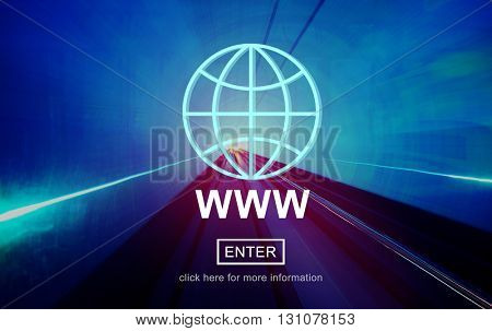 WWW Website Internet Network Connection Social Concept