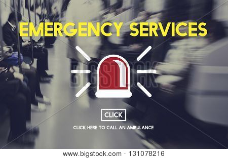 Emergency Service Ambulance Hospital Care Concept