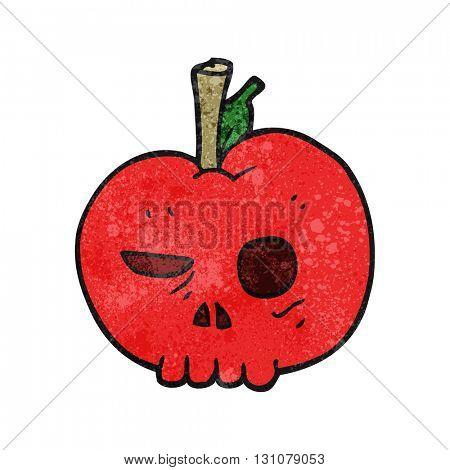 freehand textured cartoon poison apple