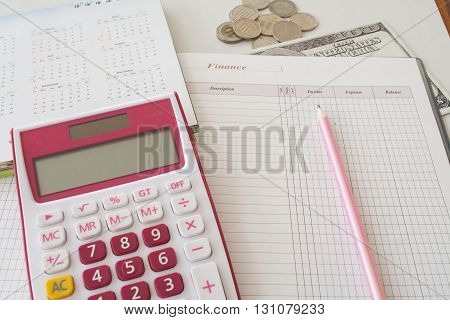 notebook monthly finance plan yearly personal control
