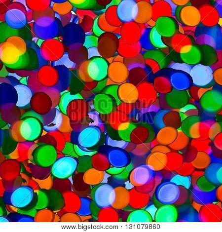 Lightbulb background square. Bokeh background. Texture bokeh.