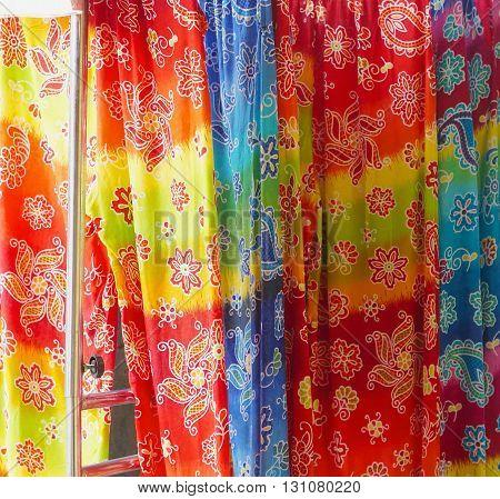The beautiful of art Malaysian and Indonesian Batik Pattern design.