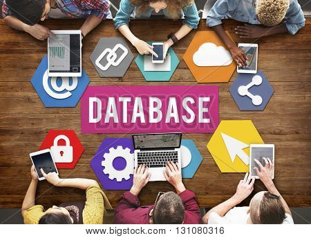 Database Online Technology Connection Concept