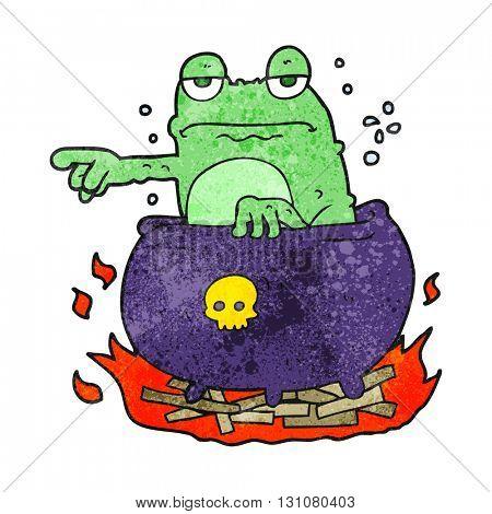 freehand textured cartoon halloween toad