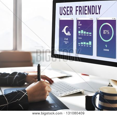 User Friendly Mobile Interface Apps Concept