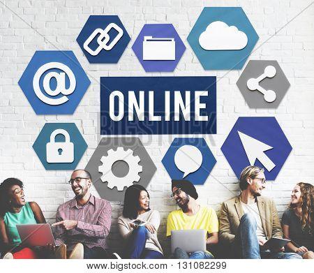 Online Communication Internet Connection Concept