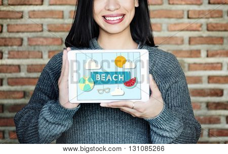 Beach Summer Time Vacation Sea & Sun Concept