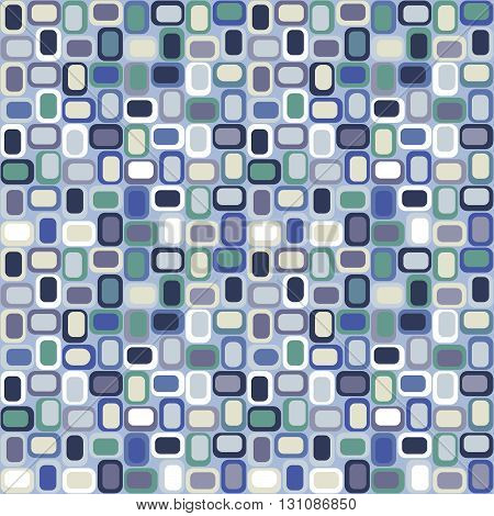 Seamless abstract background of rectangles, vector image. Mosaic.