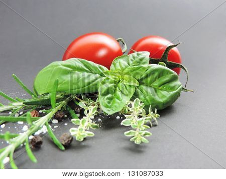 Fresh ingredients for italian or mediterranean cooking