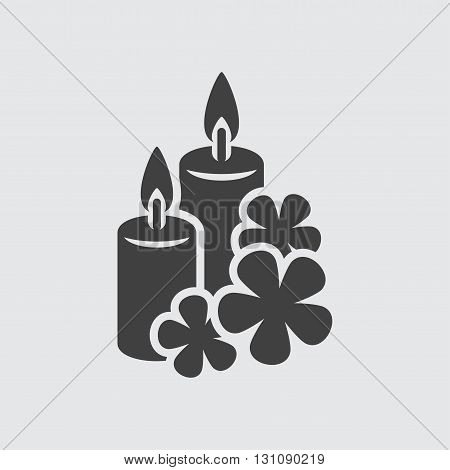 Aroma candle icon illustration isolated vector sign symbol