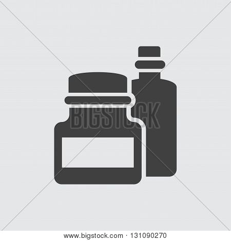 Bottle candle icon illustration isolated vector sign symbol