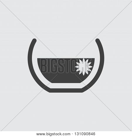 Aroma bath icon illustration isolated vector sign symbol