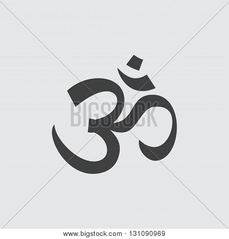 Om sign icon illustration isolated vector sign symbol