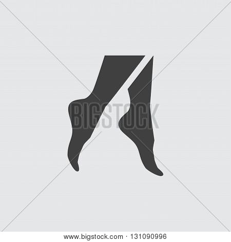 Foot icon illustration isolated vector sign symbol