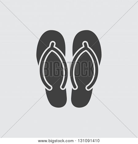 Flip flop icon illustration isolated vector sign symbol