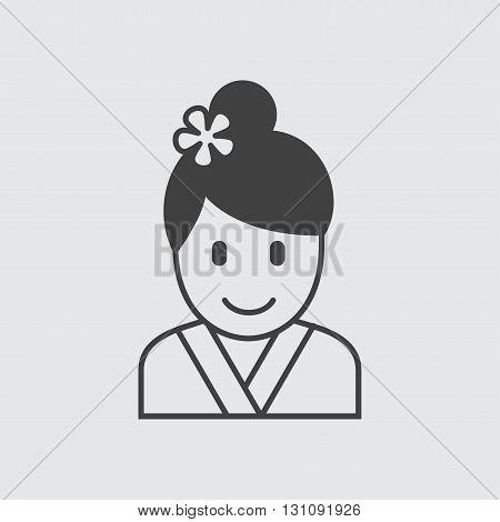 Geisha icon illustration isolated vector sign symbol