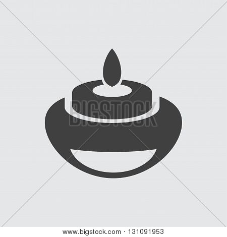Candle icon illustration isolated vector sign symbol