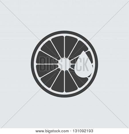 Lemon aroma oil icon illustration isolated vector sign symbol