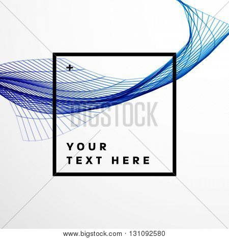 Geometric Vector Abstract Wave. Abstract Perspective Curve Lines Background