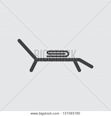 Sunbed icon illustration isolated vector sign symbol