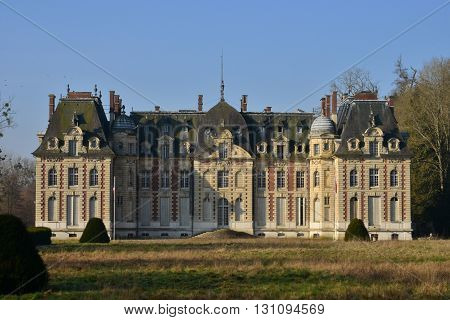 Radepont France - march 15 2016 : the neo classical castle