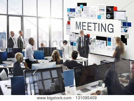 Meeting Brainstorming Cooperation Discussion Concept