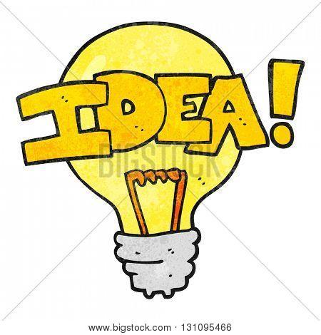 freehand textured cartoon idea light bulb symbol